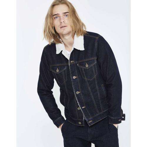 046090858fce2 Celio - Veste denim doublée sherpa homme Celio - Bleu - Vêtements homme