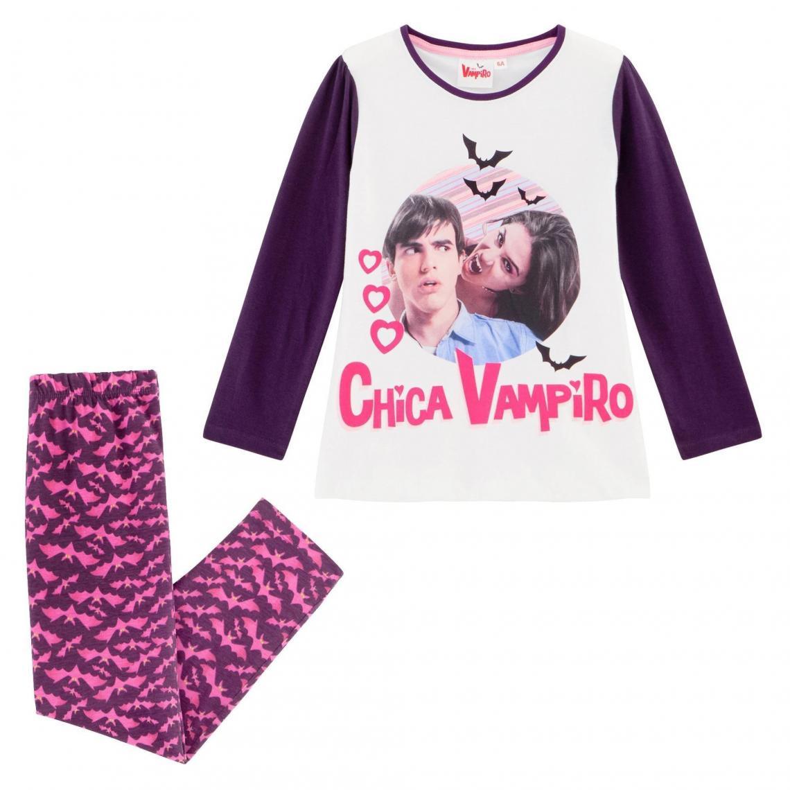 Pyjama fille imprim� Chica Vampiro - Violet - 3Suisses