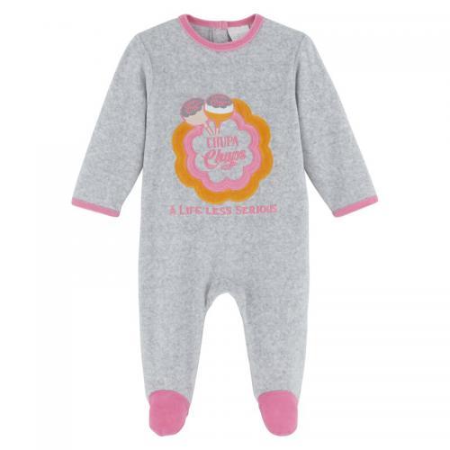 8734ed4639fd0 Chupa Chups - Dors bien velours bébé fille Chupa Chups - Gris - Pyjama