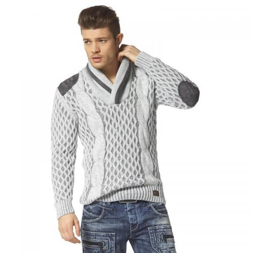 Cipo and Baxx - Pull manches longues col V en maille homme - Pull / Gilet / Sweatshirt