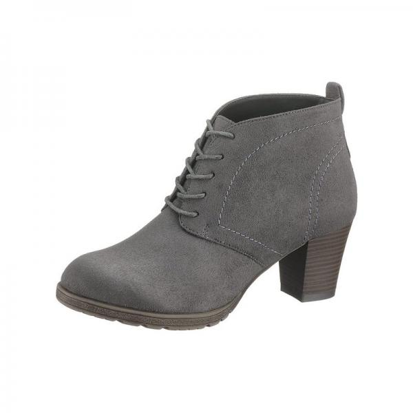 3suisses Femme Talons Walk Et À Lacets Gris City Bottines qa8Szn