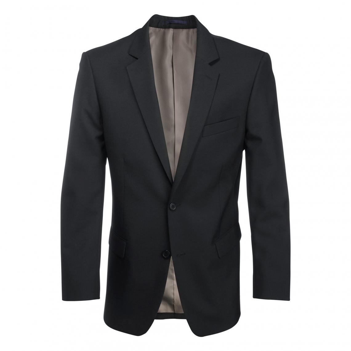 veste costume homme gris col noir