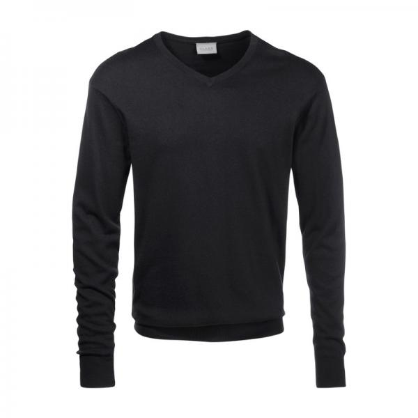 Pull col V manches longues coton et soie homme Class International - Noir Class International Homme