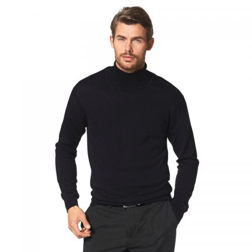Class International - Pull col roulé manches longues coton et soie homme Class International - Noir - Pull / Gilet / Sweatshirt