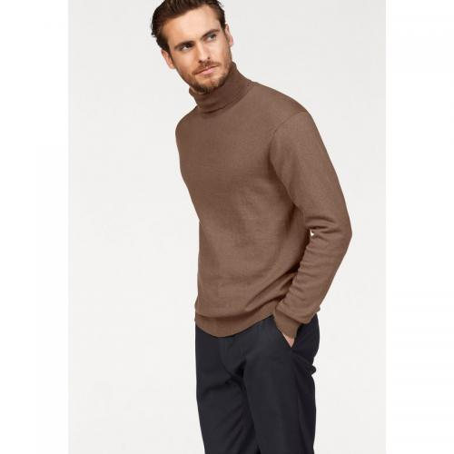 Class International - Pull col roulé manches longues coton et soie homme Class International - Caramel - Promos vêtements homme