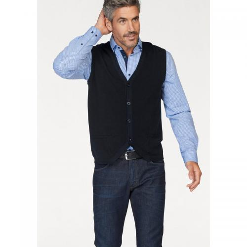 Class International - Gilet sans manche maille fantaisie homme Class International - Marine - Pull / Gilet / Sweatshirt