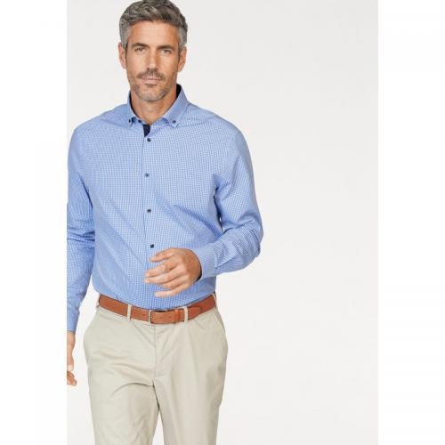 Class International - Chemise à carreaux manches longues homme Class International - Bleu Ciel - Chemises homme