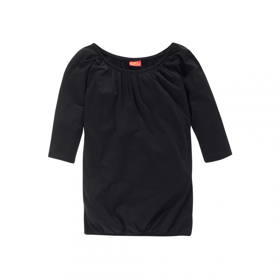 697b445f8b196 T-shirt manches ¾ chauve-souris fille CFL - Noir Colors For Life Enfant
