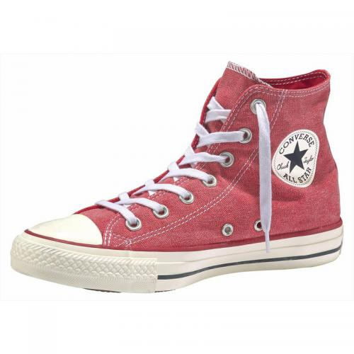 Baskets montantes  homme Converse Chuck Taylor All Star  Hi Jeans   - Rouge Clair Converse Homme