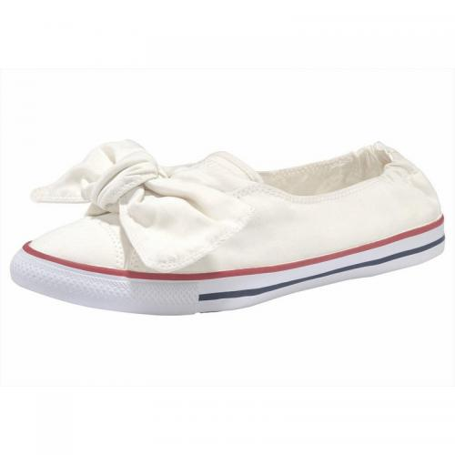 Converse - Ballerines nœud femme Converse Taylor All Star Knot Ox - Blanc Mat - Promos sport homme