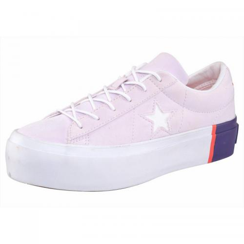 Converse - Sneakers basses femme Converse One Start Plateform - rose pâle - Baskets