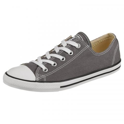 Converse - Converse Chuck Taylor All Star Dainty Ox tennis basse toile femme - Gris - Chaussures femme