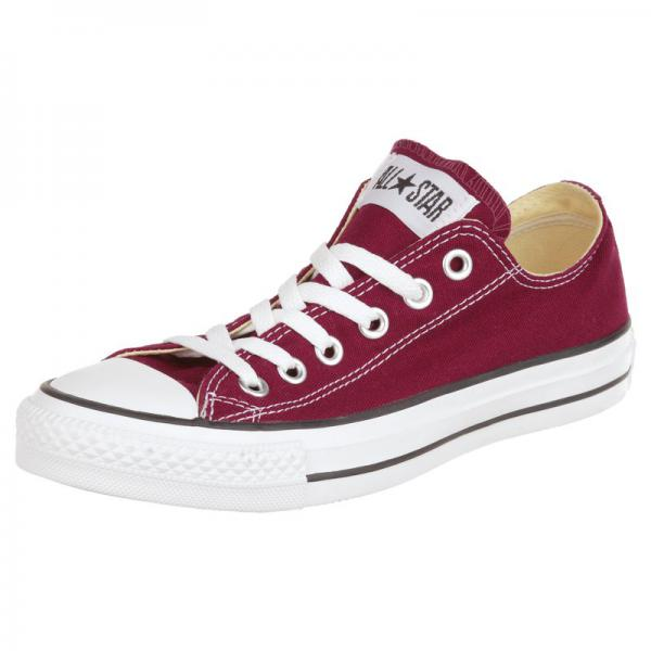 Baskets Converse All Star Ox toile - Bordeaux Converse Homme