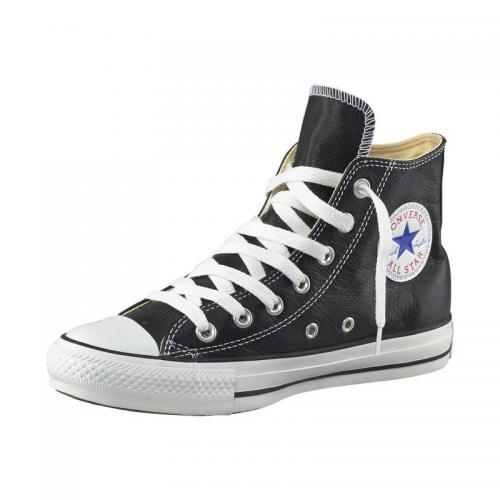 Converse - Baskets montantes Converse All Star Basic Leather cuir homme - Noir - Chaussures homme
