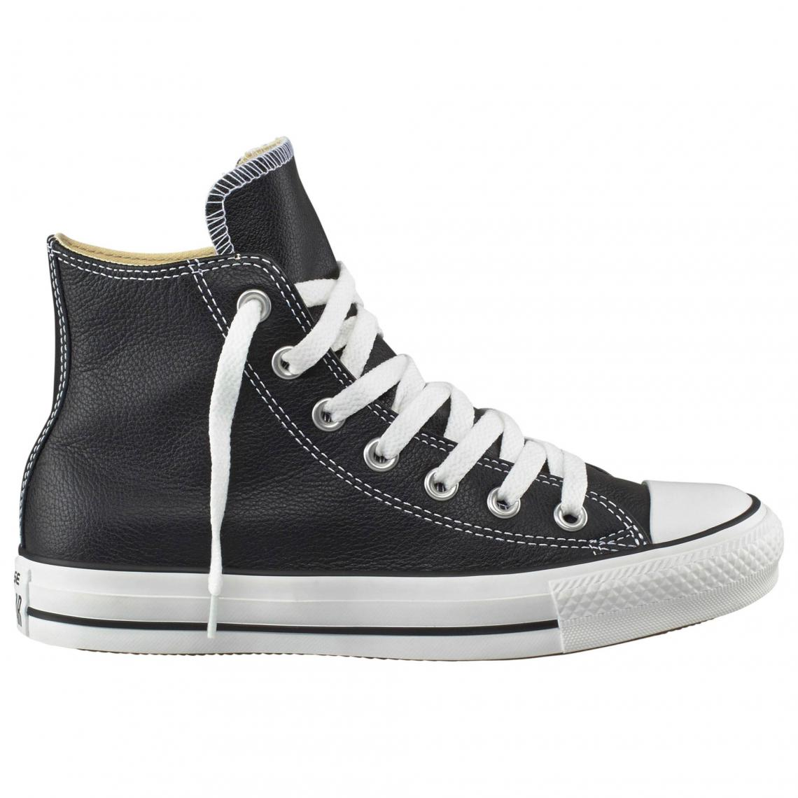 c799ce6ec10d Baskets montantes Converse All Star Basic Leather cuir homme - Noir ...