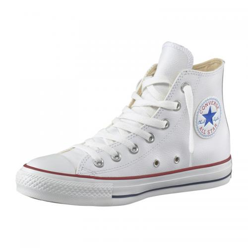 Baskets montantes Converse All Star Basic Leather cuir homme - Blanc Converse Homme