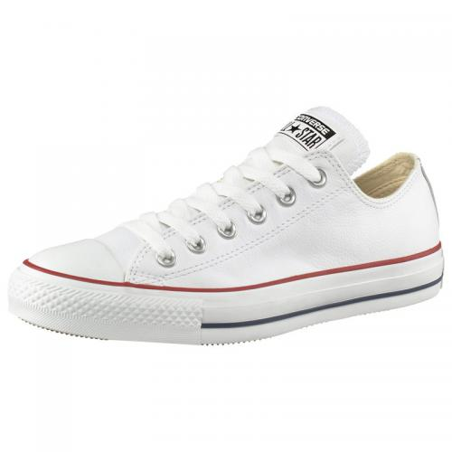Converse - Baskets basses Converse All Star Basic Leather Ox cuir - Blanc - Chaussures homme