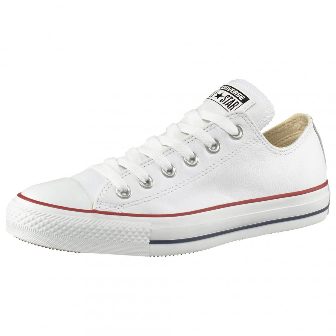 39af47ade5a Baskets basses Converse All Star Basic Leather Ox cuir - Blanc Converse  Homme