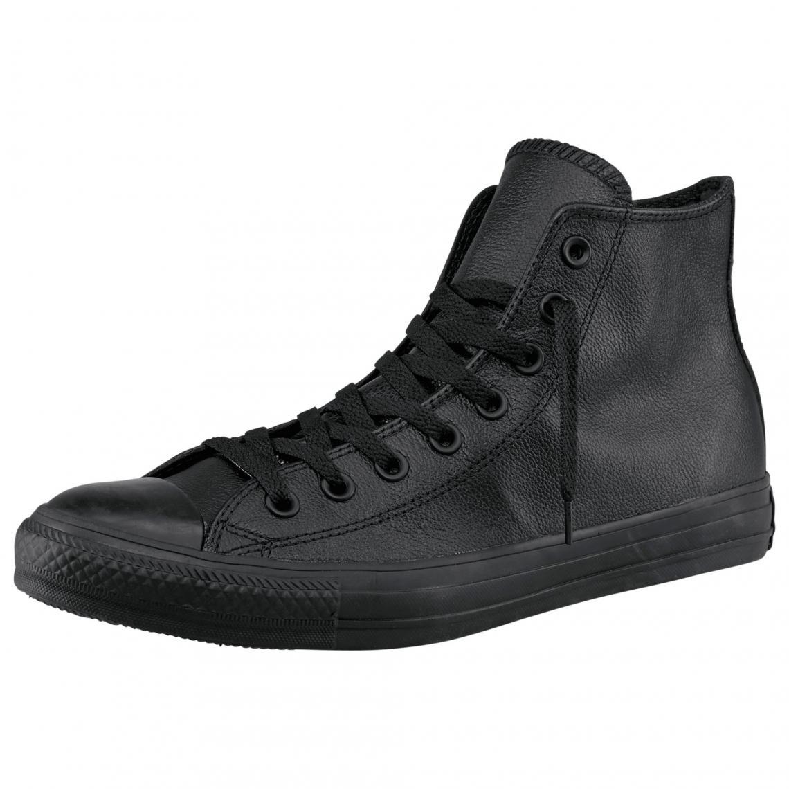 0f79a3d9a341e Converse Chuck Taylor All Star Core Mono baskets cuir homme - Noir Converse  Homme