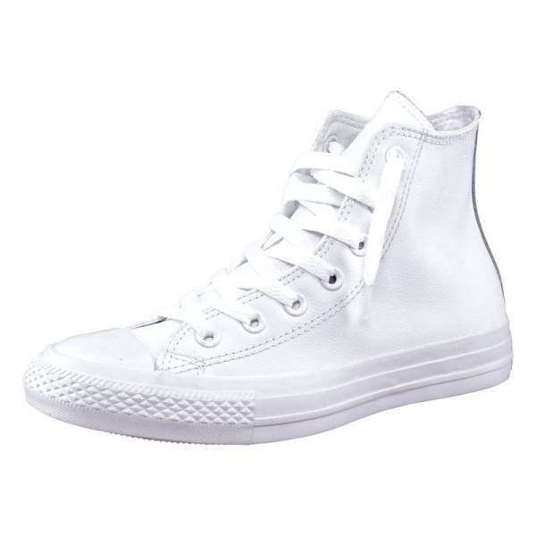 Converse Chuck Taylor All Star Core Mono baskets cuir homme - Blanc Converse Homme