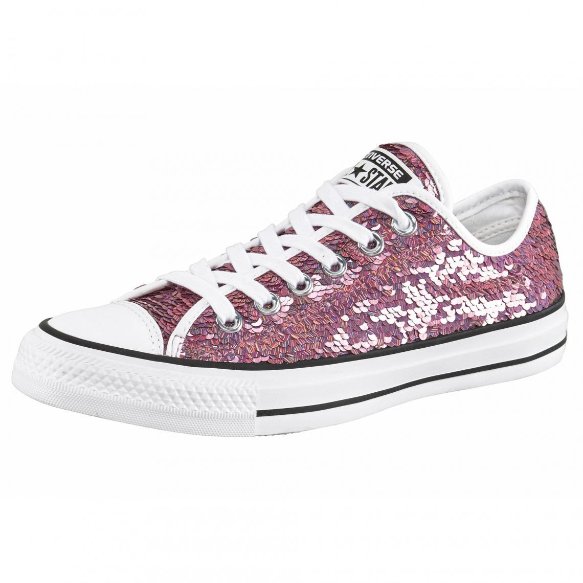 3cde411802b67 Converse Sneaker Chuck Taylor All Star Holiday Party Ox femme - Rose Converse  Femme