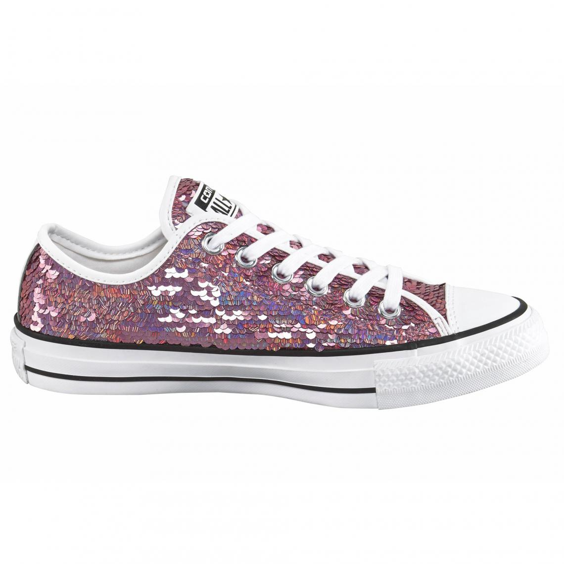 1c1dc0fa631 Converse Sneaker Chuck Taylor All Star Holiday Party Ox femme - Rose ...