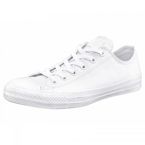 Converse - Converse Chuck Taylor All Star Basic Ox sneakers basses en cuir - Blanc - Chaussures de sport homme
