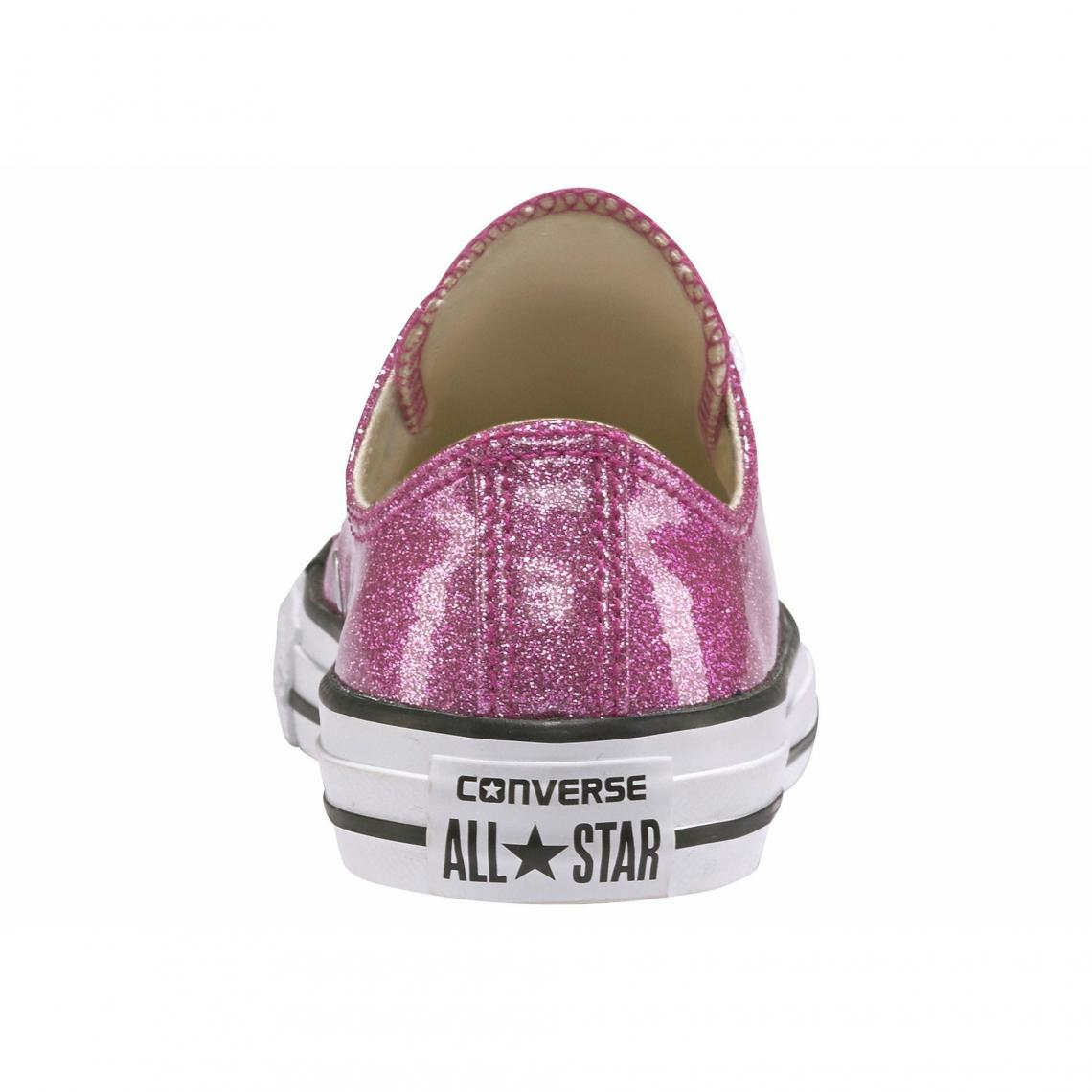 9504c94f7f02a Baskets en toile effet scintillant fille Chuck Taylor All Star-Ox Converse  - Rose Vif