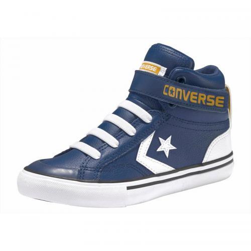 15d4080bd5a Converse - Baskets montantes junior Converse Pro Blaze Strap Hi - Marine -  Blanc - Chaussures