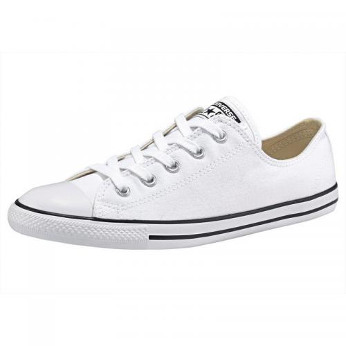 Converse - Converse Chuck Taylor All Star Dainty Ox tennis basse toile femme - Blanc - Noir - Chaussures femme