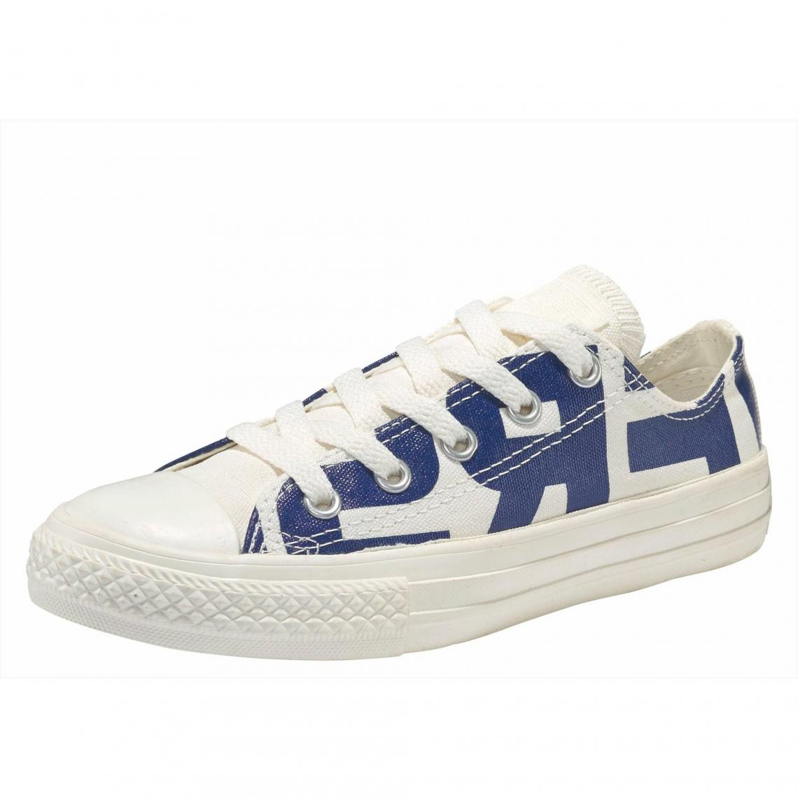 9dc2e1b781973 Sneakers basses imprimées junior Converse Chuck Taylor All Star Ox Youth -  Blanc - Bleu Converse