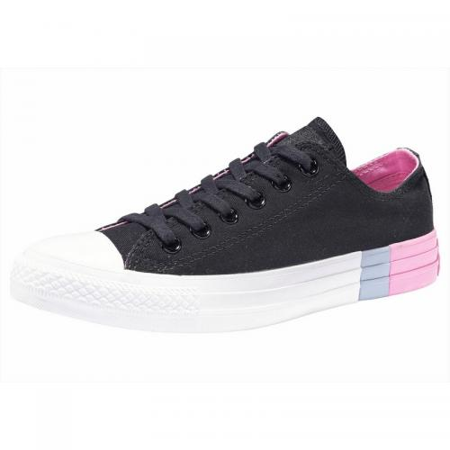 Converse - Baskets basses femme Converse Chuck Taylor All Star Ox Colorblock - Noir - Rose Vif - Chaussures femme