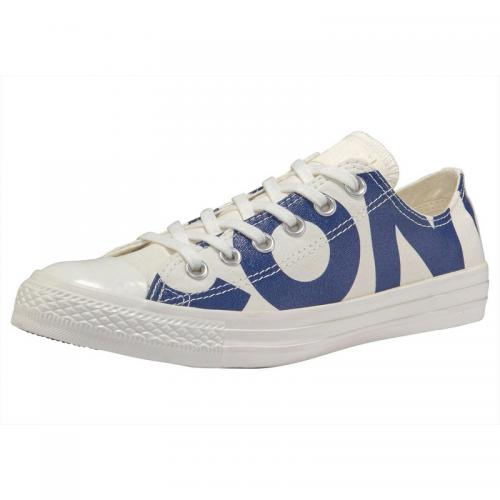 Converse - Converse Chuck Taylor All Star Ox Big Logo Baskets homme - Blanc - Bleu - Chaussures