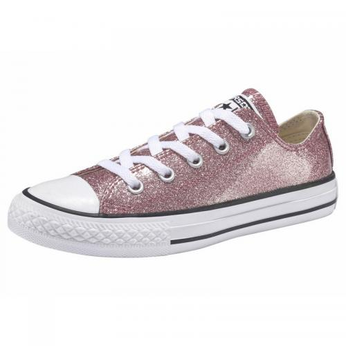 2302882d0160e Converse - Baskets en toile effet scintillant fille Chuck Taylor All Star-Ox  Converse -