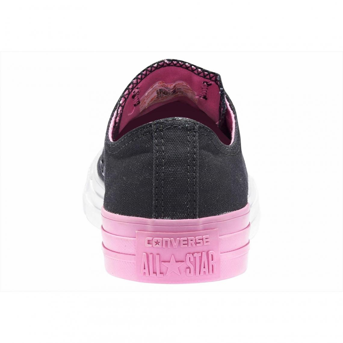 6ed4aa2d850 Baskets basses femme Converse Chuck Taylor All Star Ox Colorblock - Noir -  Rose Vif Converse