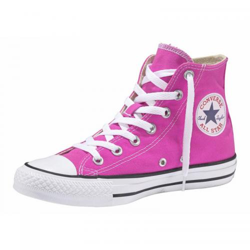 Converse - Baskets montantes femme Chuck Taylor Converse All Star Hi Seasonal 1 - Rose Fluo - Promos chaussures, accessoires femme