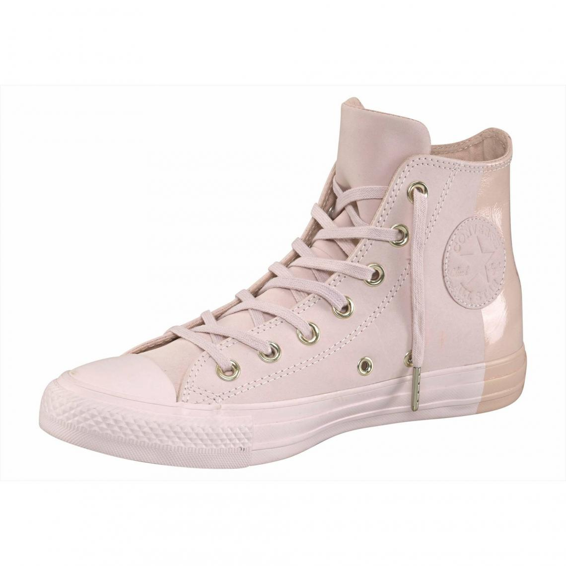 Baskets montantes femme Converse Chuck Taylor All Star Hi Colorblock - Rose  Converse Femme 105bc1508f2