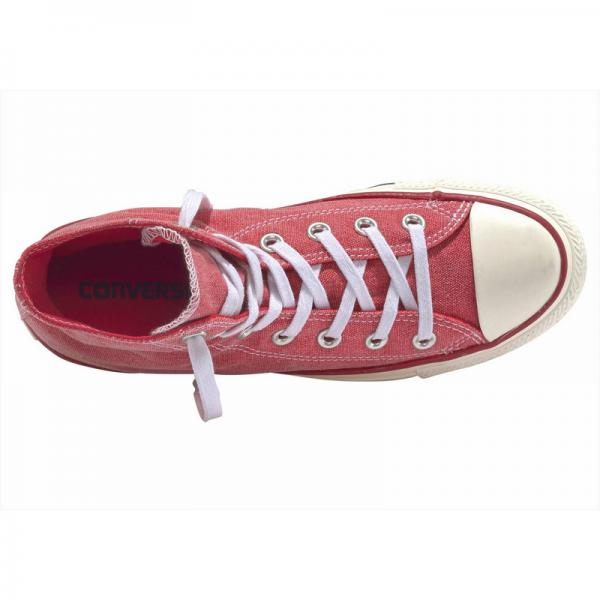 Baskets montantes  homme Converse Chuck Taylor All Star  Hi Jeans   - Rouge Clair Converse