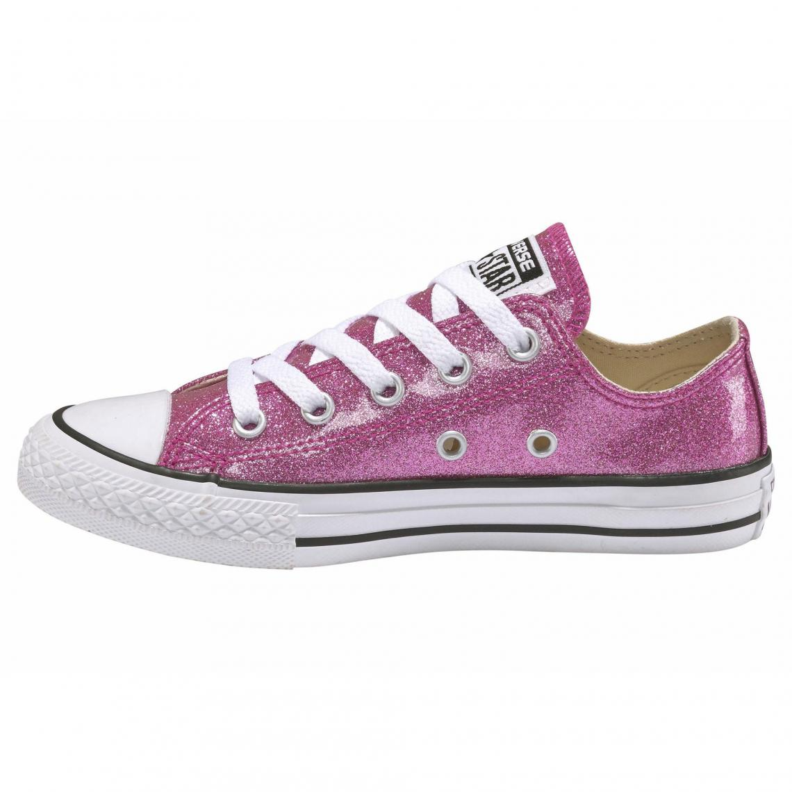 a8ea1fe2f3c4d Baskets en toile effet scintillant fille Chuck Taylor All Star-Ox ...