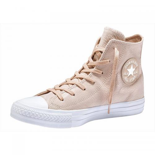 Converse - Sneakers montantes femme Converse Chuck Taylor All Hi Shiny Uppper - rose pâle - Sneakers femme