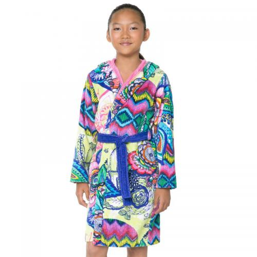 Desigual - Peignoir capuche coton velours 360 grm² Bettina enfant Desigual - Multicolore - Peignoir