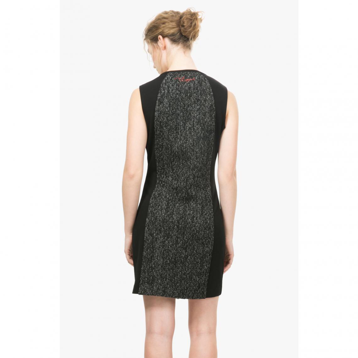 5b95fabe938b0 Robes courtes femme Desigual Cliquez l image pour l agrandir. Robe imprimée  patchwork femme Oceano Desigual - Blanc - Noir Desigual Femme