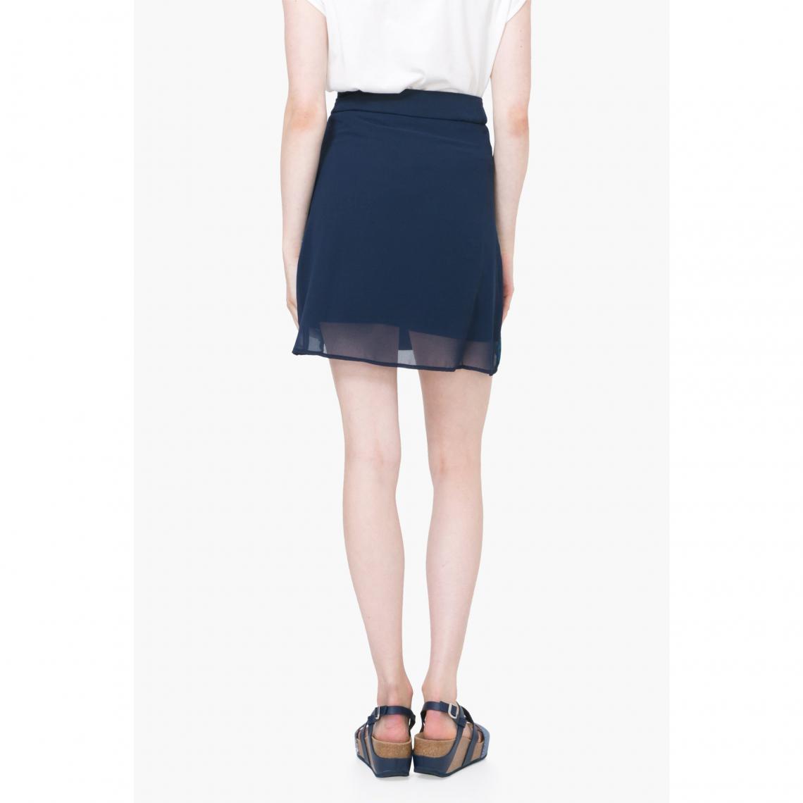 28b41a5281d3 Jupe courte voile portefeuille femme Desigual - Multicolore