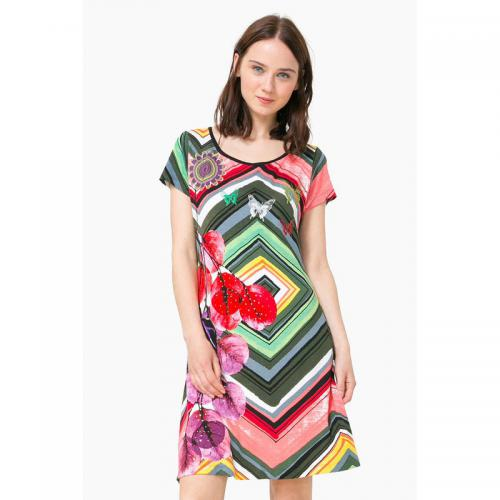 Desigual - Robe courte femme Desigual - Multicolore - Robe multicolore