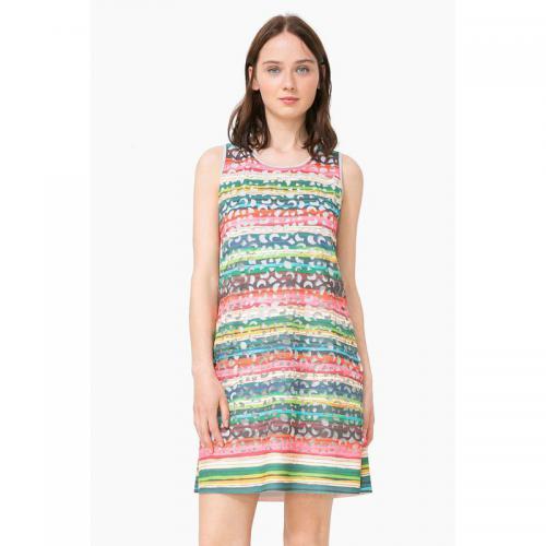 Desigual - Robe courte sans manches découpes ajourées femme Desigual -  Multicolore - Robe desigual 8982ccf942f1