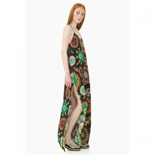 a472b1f60276 Desigual - Robe de plage longue décolletée fines bretelles femme Desigual -  Multicolore - Robes de