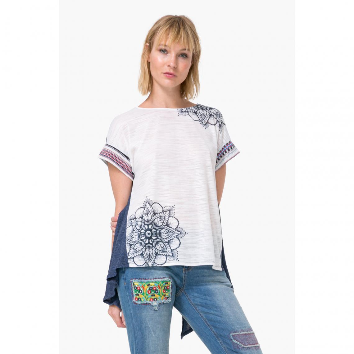 Tee-shirt manches courtes ou dos femme Desigual
