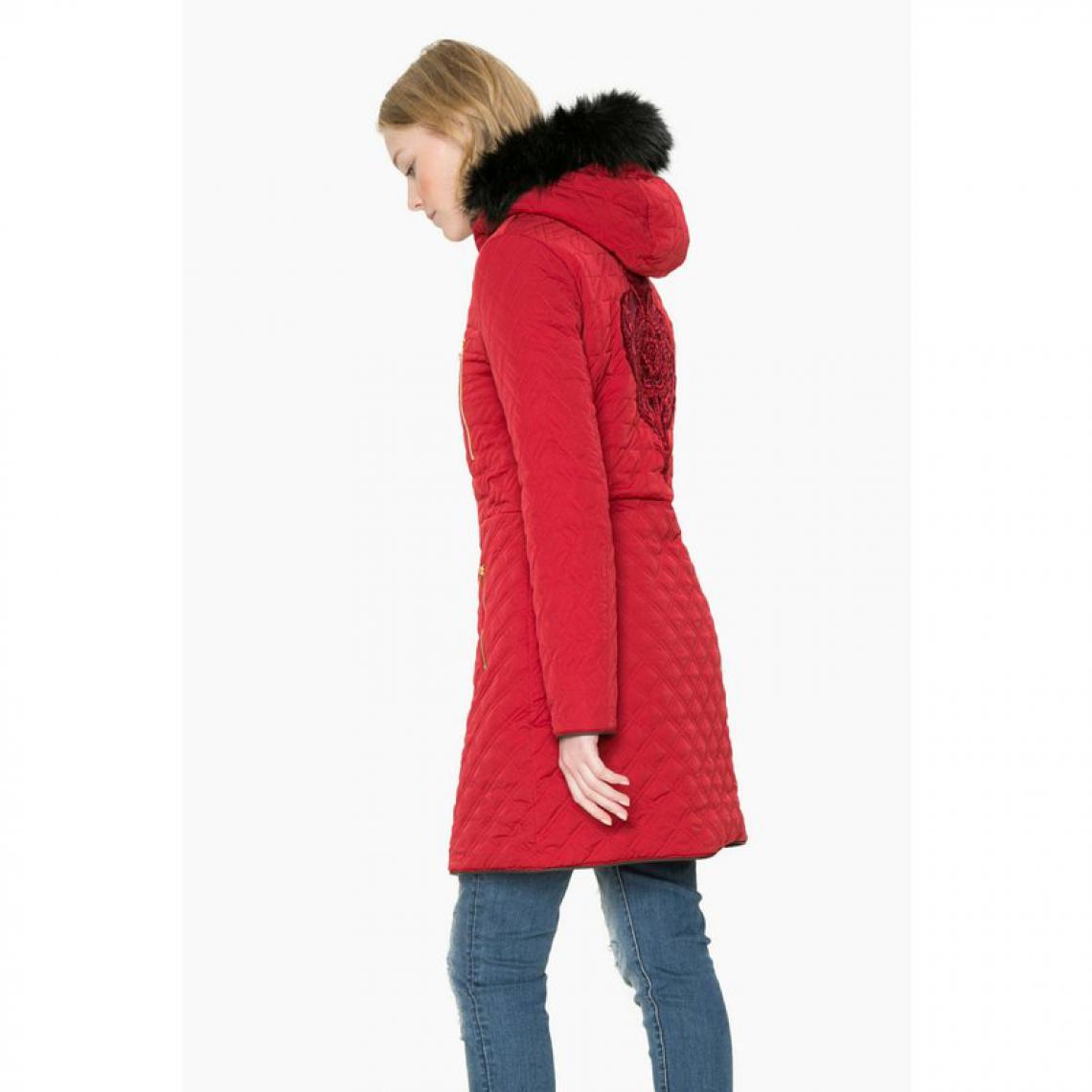 sélection premium 1505a 3bd48 Doudoune zippée réversible à capuche femme Desigual - Rouge ...
