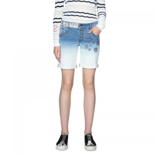 Desigual - Short en jean femme Desigual - Blue Denim - Shorts c3a53a400cc