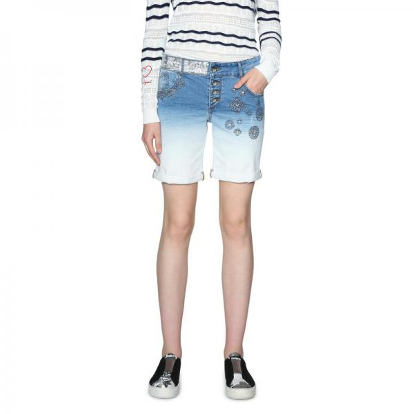 Short en jean femme Desigual - Blue Denim